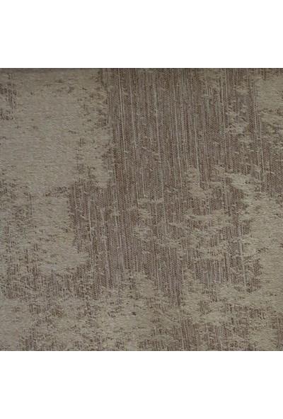 Caserta Home Bulut Desen Koyu Bej V-3 Sık Pileli Jakar Tek Kanat Fon Perde - ezo 12758
