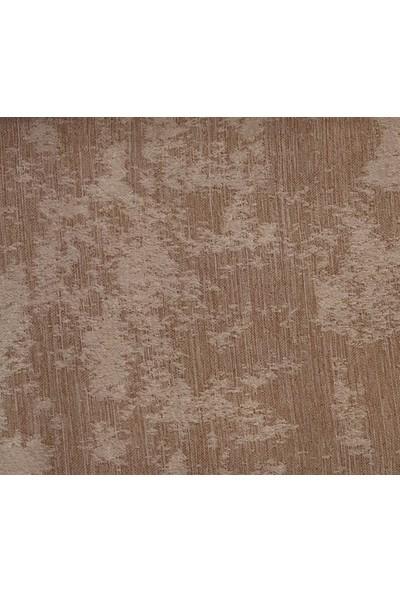 Caserta Home Bulut Desen Koyu Bej V-4 Sık Pileli Jakar Tek Kanat Fon Perde - ezo 12604