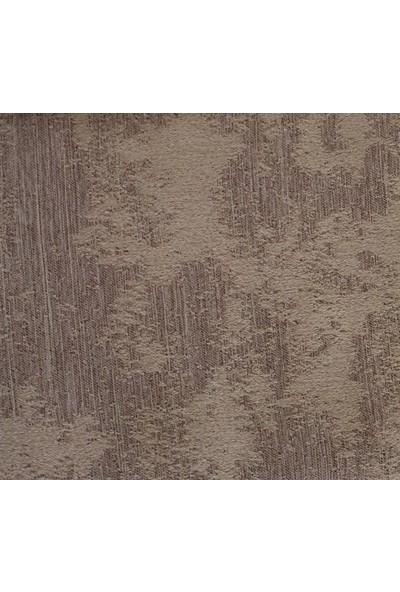 Caserta Home Bulut Desen Koyu Bej V-5 Orta Sıklıkta Pileli Jakar Tek Kanat Fon Perde - ezo 12605