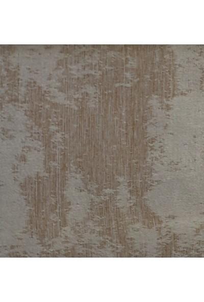 Caserta Home Bulut Desen Koyu Bej V-6 Orta Sıklıkta Pileli Jakar Tek Kanat Fon Perde - ezo 12722