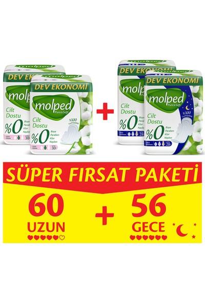 Molped Pure&Soft Uzun 30 Adet X 2 + Gece 28 Adet X 2 Süper Fırsat Paketi