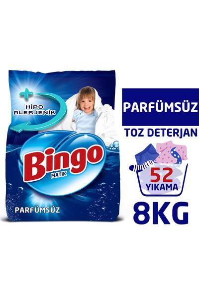 Bingo Matik Toz Çamaşır Deterjanı 4 kg Parfümsüz 2'li