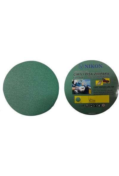 Nikon 52032 Kırılmaz Yeşil Cırt Zımpara 115X280 Kum
