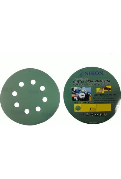 Nikon 52036 Kırılmaz Yeşil Cırt Zımpara 125X80 Kum 8 Delikli