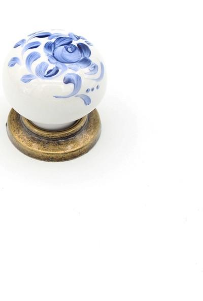 Kulpca Porselen Serigraf Düğme Kulp