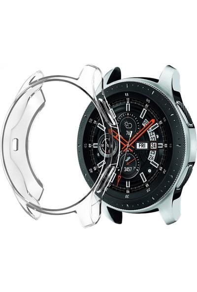 Microcase Samsung Galaxy Watch 46 mm Silikon Kılıf Şeffaf