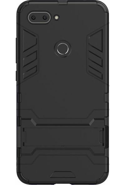 Microcase Xiaomi Mi 8 Lite Alfa Serisi Armor Standlı Koruma Kılıf