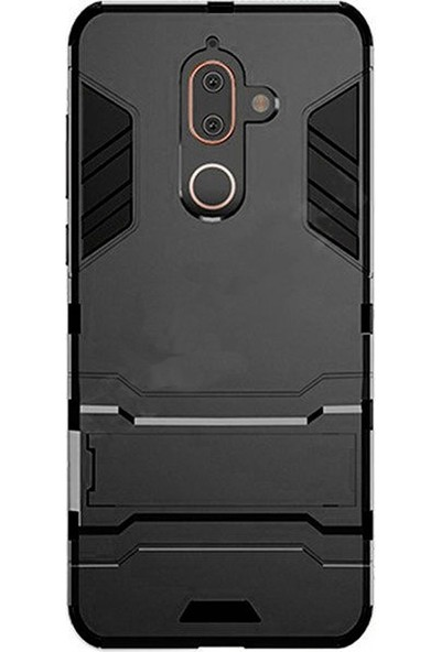 Microcase Nokia 7 Plus Alfa Serisi Armor Standlı Koruma Kılıf