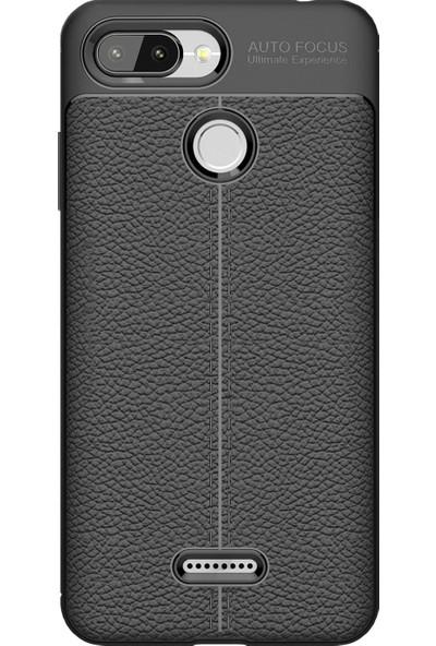 Microcase Xiaomi Redmi 6 Leather Tpu Silikon Kılıf