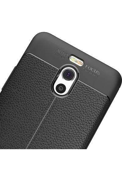 Microcase Meizu M6 Note 5.5 inch Leather Tpu Silikon Kılıf