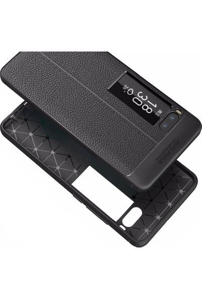 Microcase Meizu Pro 7 Leather Tpu Silikon Kılıf