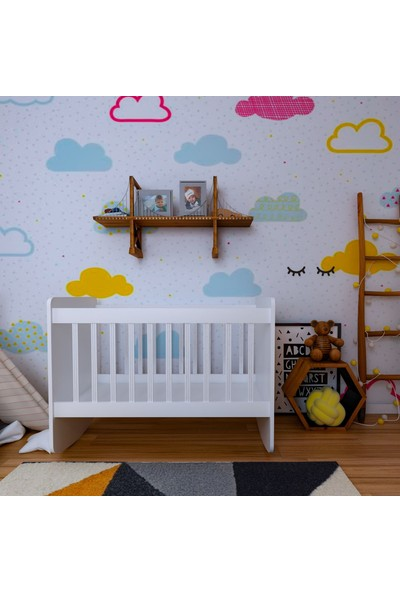 Decorfine Yandan Sallanır Bebek Beşik 60 x 120 cm