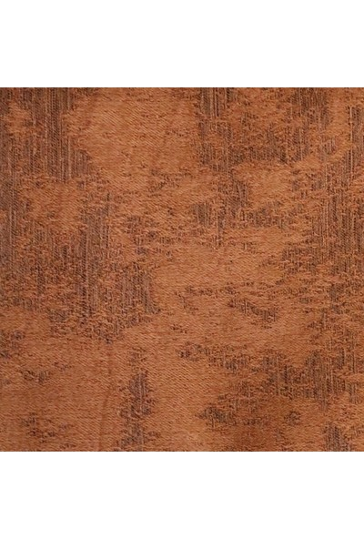 Caserta Home Bulut Desen Kiremit v2 Orta Sıklıkta Pileli Jakar Tek Kanat Fon Perde - ezo 12761