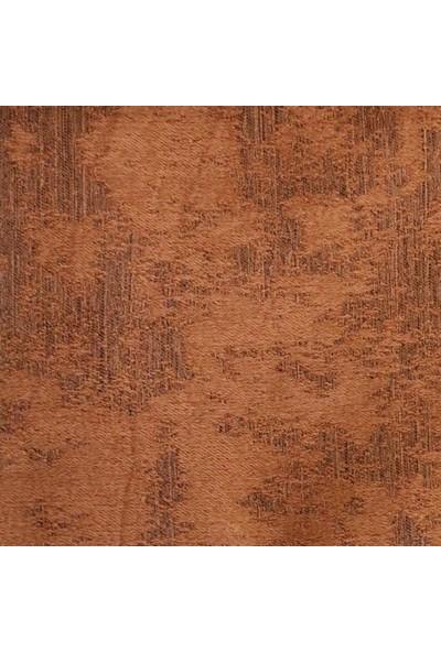 Caserta Home Bulut Desen Kiremit v2 Sık Pileli Jakar Tek Kanat Fon Perde - ezo 12761