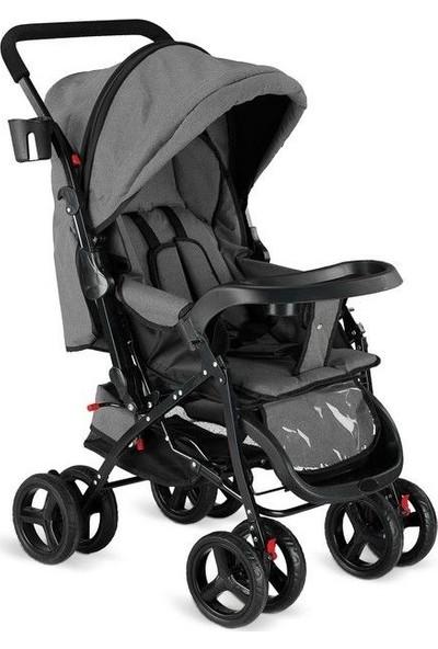 Babyhope 617 Çift Yönlü Bebek Arabası - Gri