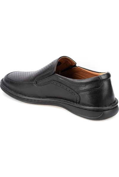 Polaris 5 Nokta 91.100536.M Siyah Erkek Deri Klasik Ayakkabı