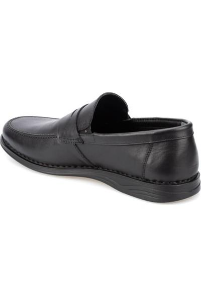 Polaris 5 Nokta 91.100558.M Siyah Erkek Deri Klasik Ayakkabı