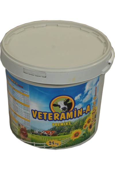 Veteramin - A Yem Katkısı Premiks Süt ve Besi 25 kg Kova