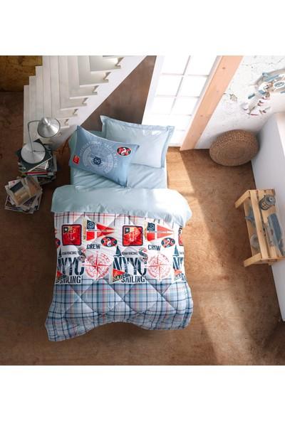 Cotton Box Genç Odası Ranforce Tek Kişilik Uyku Seti Cruise Mavi