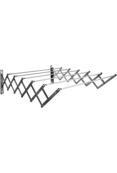 XBEREN 100 CM - 7 Çubuk Akordiyon Paslanmaz Katlanır Çamaşırlık