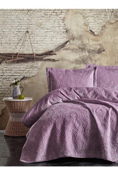 Cotton Box Soft Çift Kişilik Yatak Örtüsü Seti Lila