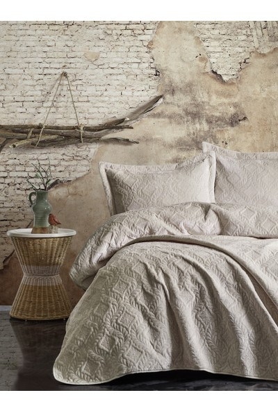 Cotton Box Soft Çift Kişilik Yatak Örtüsü Seti Yeşil