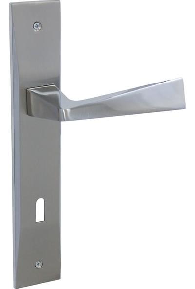 Özen Kapı Kolu Esta Zmk Krom Saten Rana Aynalı 85 mm