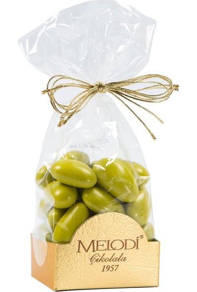 Melodi Çikolata Yeşil Renkli Badem Şekeri 150gr