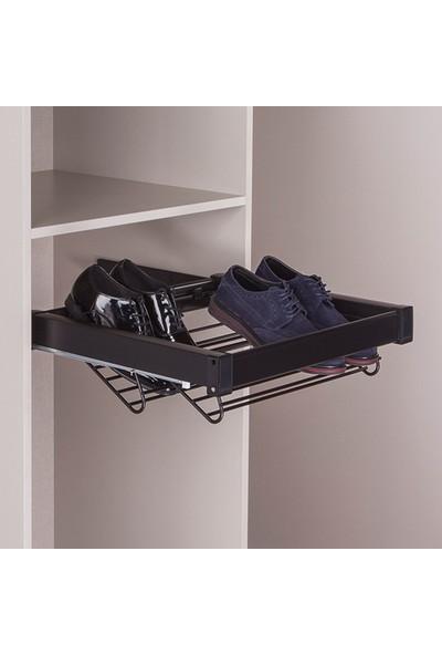 Hafele Select Ayakkabılık Raylı Siyah 60 cm