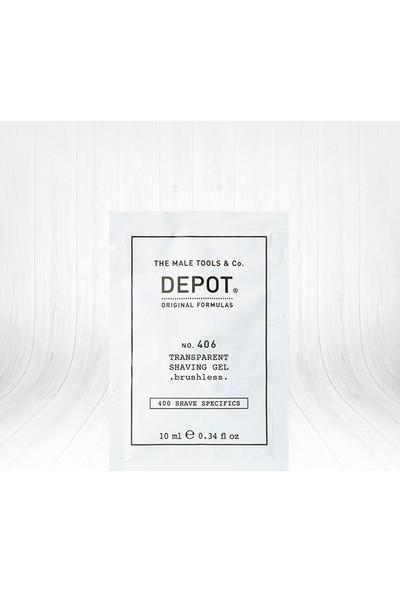 Depot No 406 Transparent Shaving Gel Köpürmeyen Tıraş Jeli 10 ml