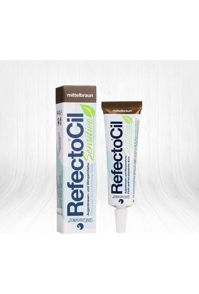 RefectoCil Sensitive Medium Brown Kaş ve Kirpik Boyası Orta Kahve 15ml