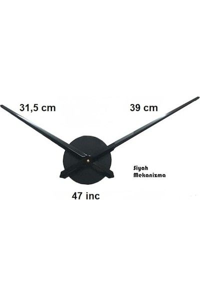 Dıy Clock Yeni Nesil 3D Duvar Saati Model 11