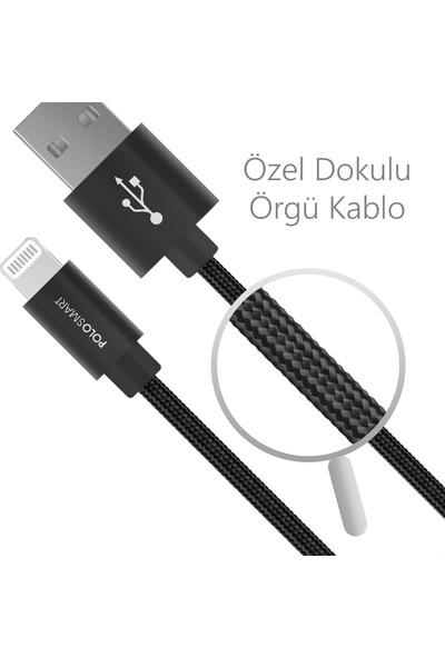 Polosmart PSM07 1 Metre Siyah Lightning Hızlı Şarj Kablosu