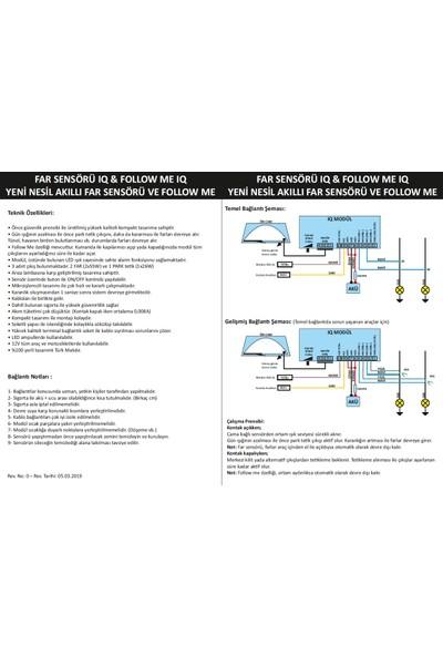 Eng Aksesuar IQ Far Sensörü & Follow Me 2İn1 Akıllı Far Sensörü Modülü IQ