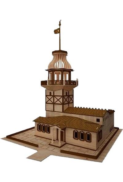 Ahşap 3 Boyutlu Tarihi Kız Kulesi Yapboz