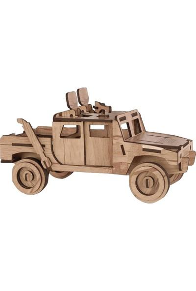 Ahşap 3 Boyutlu Hummer Jip Yapboz