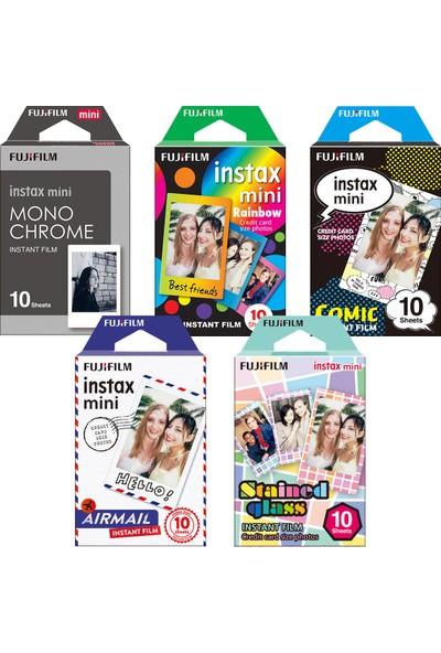 Fujifilm Instax Mini 5'Li Özel Film Set 50 Poz