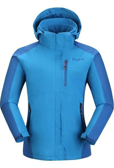 2As Sparkle Kadın 3İn1 Mont Mavi