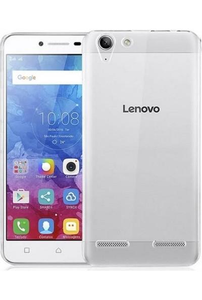 Jopus Lenovo K5-K5 Plus Silikon Kılıf Şeffaf + Nano Cam Ekran Koruyucu