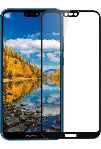 Jopus Huawei P20 Lite 5D Nano Tam Kaplayan Ekran Koruyucu + Şeffaf Silikon Kılıf