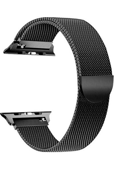 Schulzz Apple Watch Premium 42 mm Metal Milano Kordon 2-3-4 Uyumlu - Siyah
