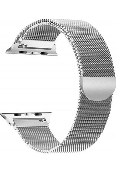 Schulzz Apple Watch Premium 42 mm Metal Milano Kordon 2-3-4 Uyumlu - Gümüş