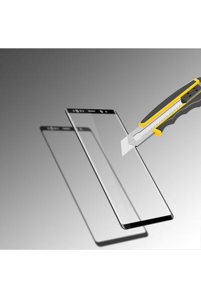 TelefonBorsası Samsung Galaxy S10 Plus Tam Kaplayan Temperli Cam Ekran Koruyucu Film Siyah