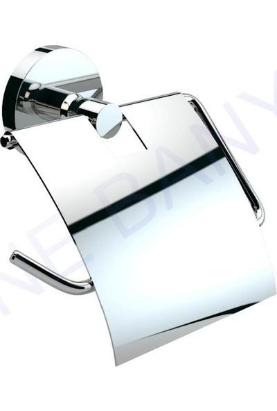 Defne Banyo Gül Kapaklı Tuvalet Kağıtlık Pirinç Taban