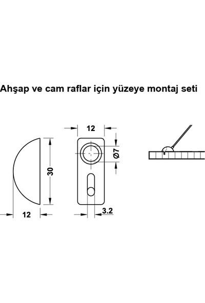Hafele Brıgde Raf Tutucu Nikel Mat 210Mm (287.91.000)