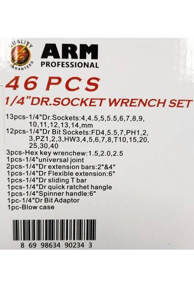 Arm Makroyapı Arm 46 Parça Mini Lokma Takımı 1/4 Lokma Seti