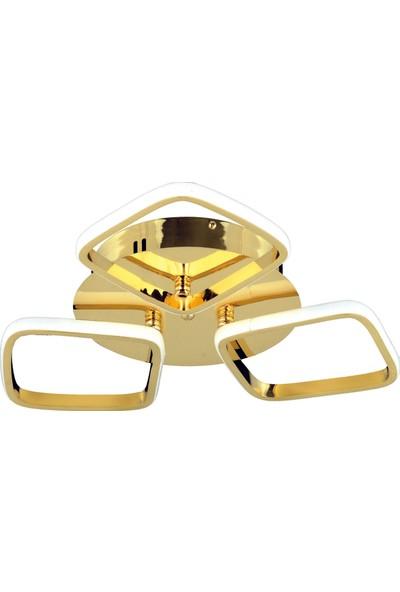 Ünal Aydınlatma Berrak-5 Altın Kaplama Ledli Monte Avize