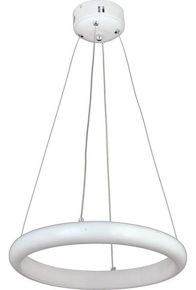 Ünal Aydınlatma Halka-3 Metal Statık Fırın Boyalı Şeffaf Kablo Ledli Monte Avize