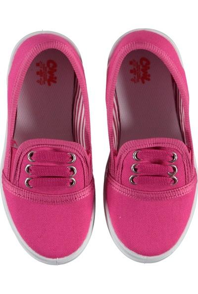 Civil Kız Çocuk Keten Ayakkabı 26-30 Numara Fuşya