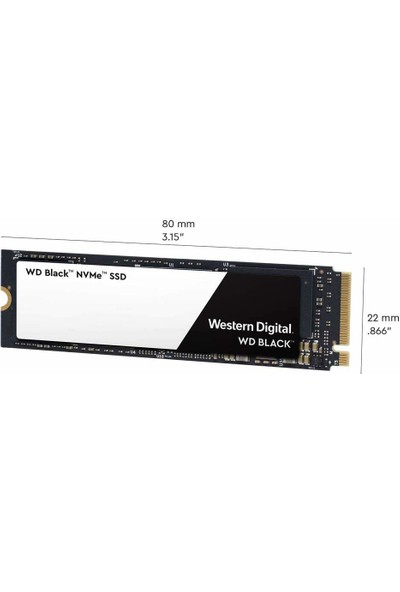 WD Black 1TB SSD 3400MB/2800 MB/Sn M.2 NVMe M.2 (WDS100T2X0C)